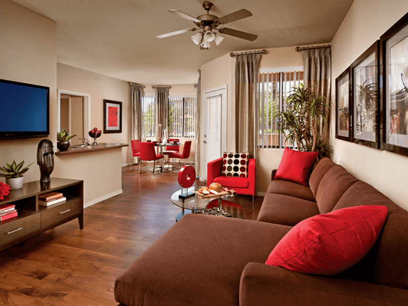 Spacious floor plans at apartments in Tempe, Arizona