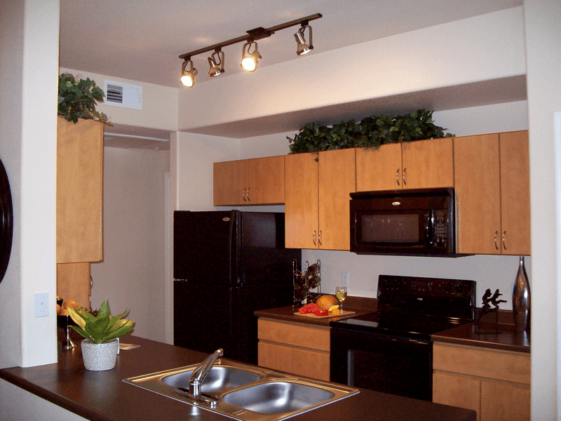 New kitchen appliances at apartments in Tempe, Arizona