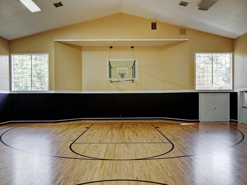 Indoor basketball at apartments in Mukilteo, Washington