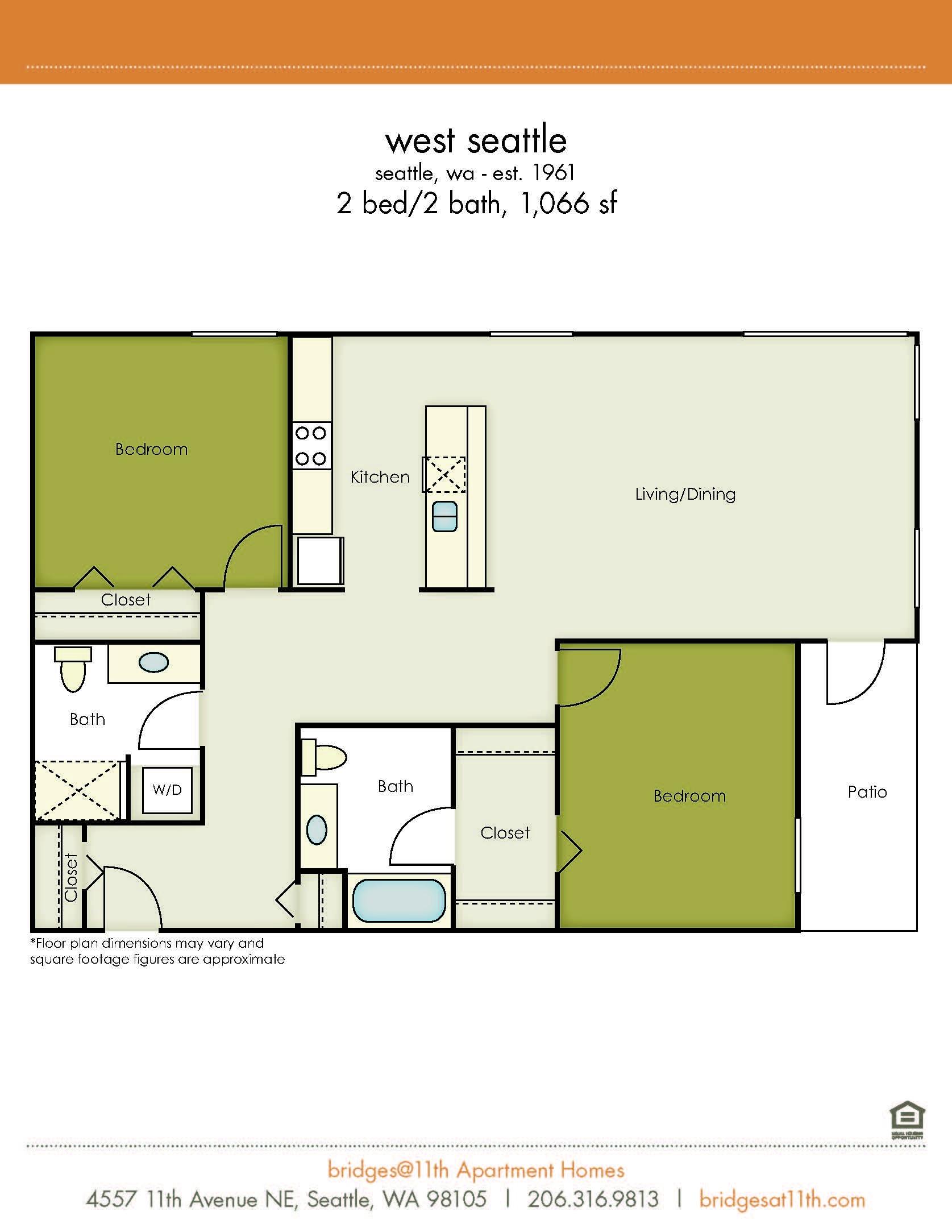 2 BedroomStudio  1  2   3 Bedroom Apartments in Seattle   bridges 11th. Seattle 2 Bedroom Apartments. Home Design Ideas