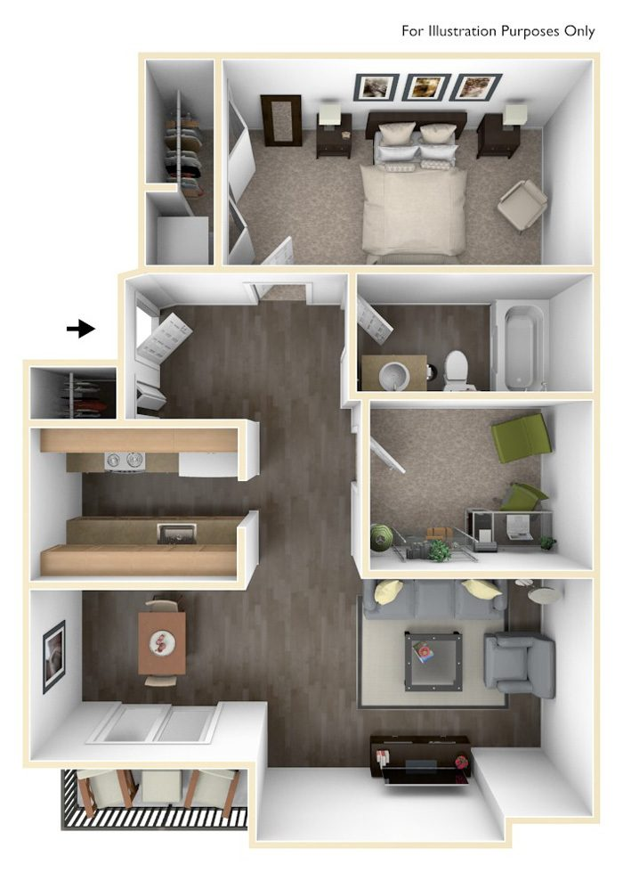 Apartment Floor Plans 2 Bedroom 1 & 2 bedroom apartment floor plans in spokane valley | revere