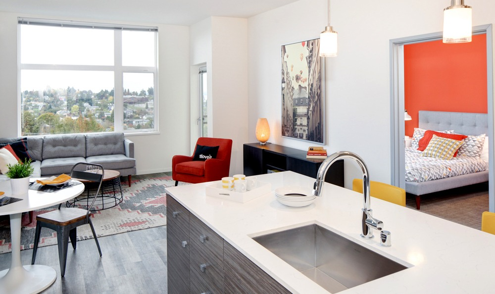 bright and modern living spaces inside the apartments at angeline