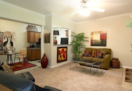 Apartments in Little Rock have spacious living rooms