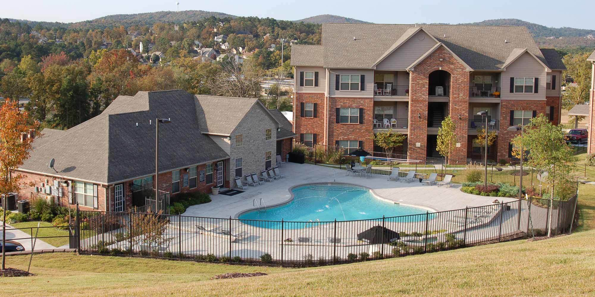 Little Rock apartments for rent have a spacious pool area for you