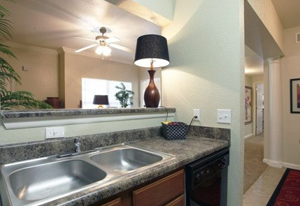 Modern kitchens at the apartments in Little Rock, AR