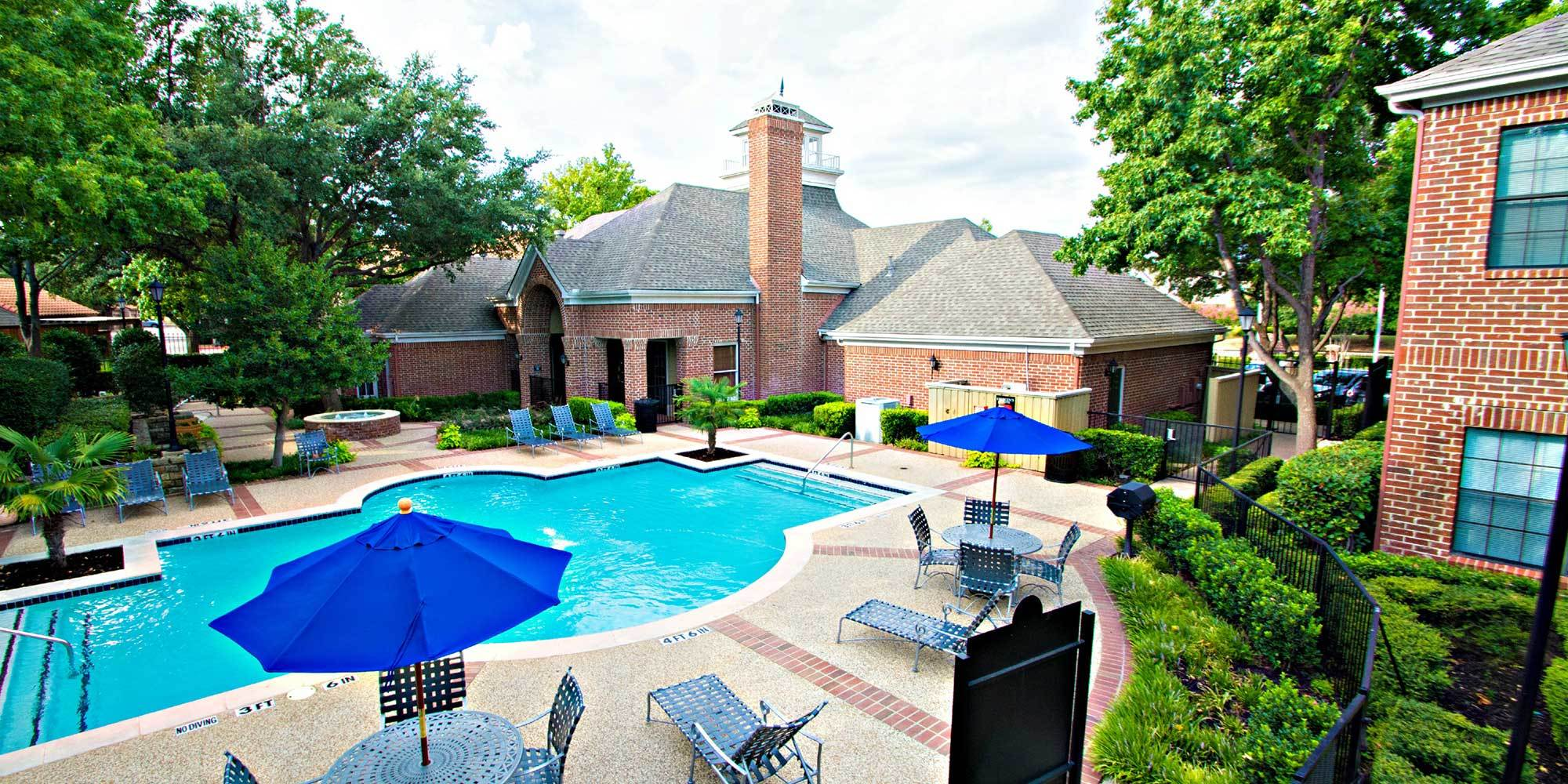 Richardson apartments for rent have a spacious pool area for you