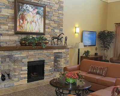 Comfortable couches to enjoy at the senior living community in St Petersburg