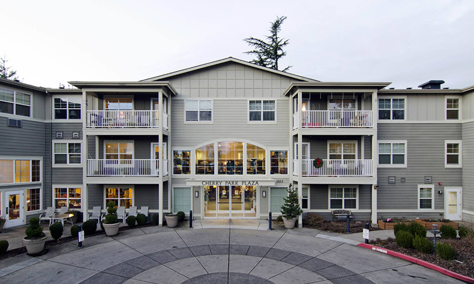 Senior living community in Troutdale has a clean exterior building