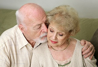 Happy couple at the senior living facility in Troutdale