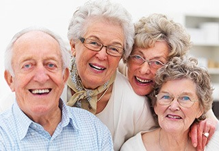 Happy friends at the senior living community in Troutdale