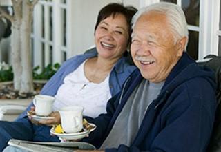 Residents enjoying a laugh at the senior living in Calumet