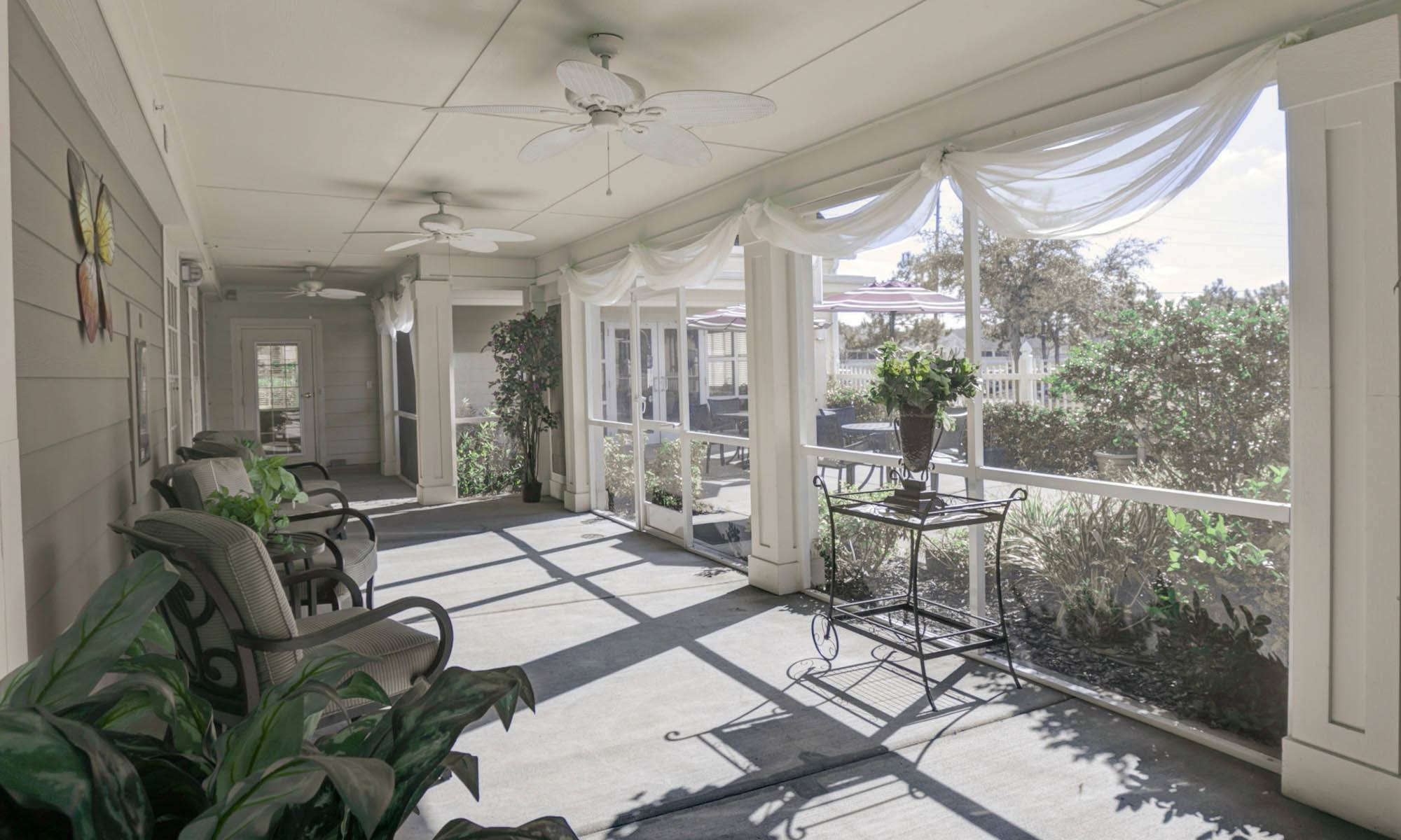 Sun room at the senior living in New Port Richey