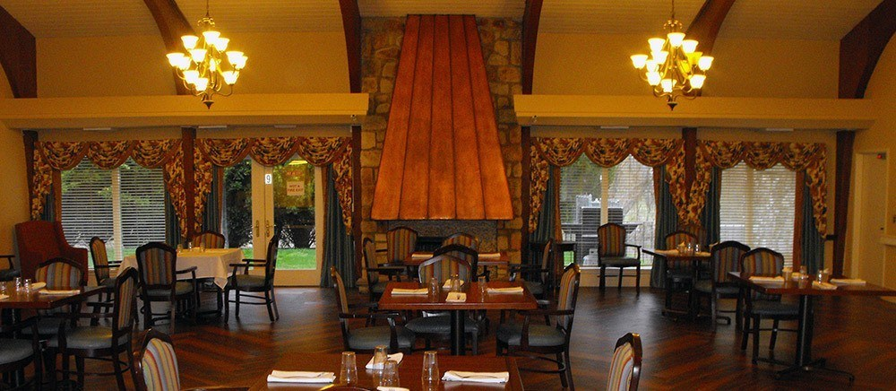 Senior living in Feasterville Trevose includes a grand dining room.
