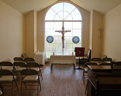 Chapel at the senior living in Frederick