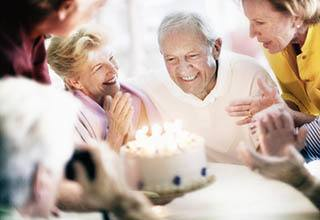Senior living in Frederick are celebrating with cake