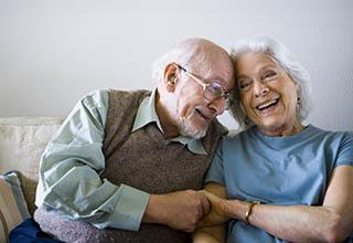 Happy couple at the senior living in Frederick