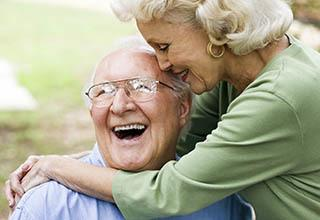Frederick senior living community shows a happy couple