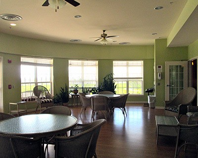 Dining table in Frederick senior living community