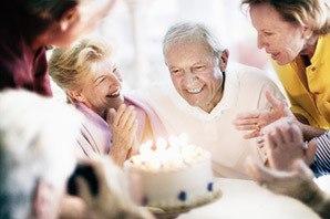 Senior living in Salt Lake City are celebrating with cake
