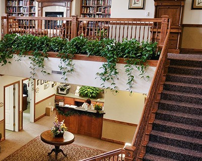 Stairs in Salt Lake City senior living community