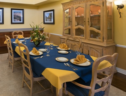 Private dining at St. George senior living.