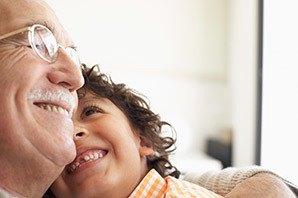Residents hugging at the senior living community in Salt Lake City