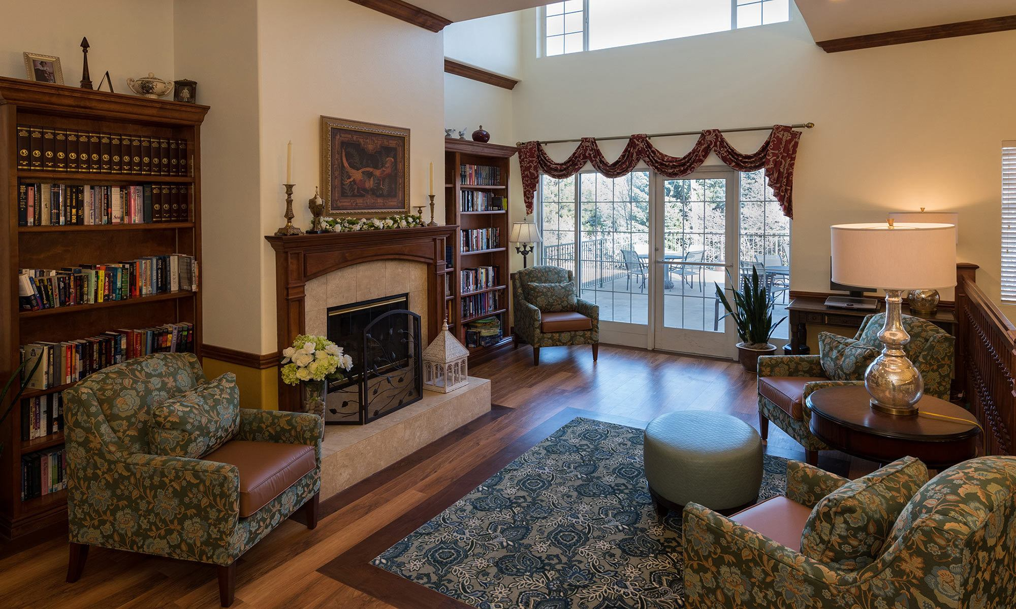 Common room at the senior living community in Sandy