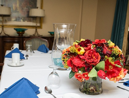 Table settings at Pikesville senior living.