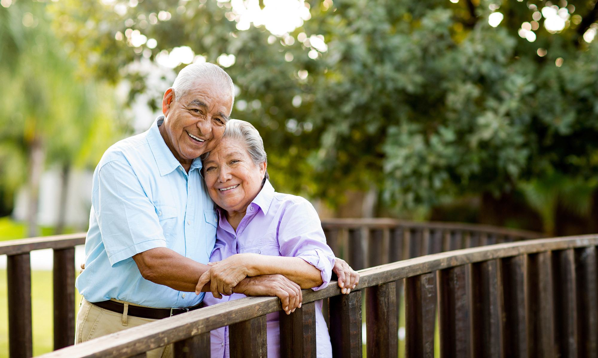 Happy couple at the senior living community in Wildwood