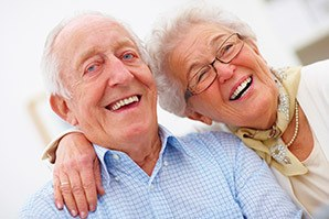 Happy couple at the senior living community in Fayetteville