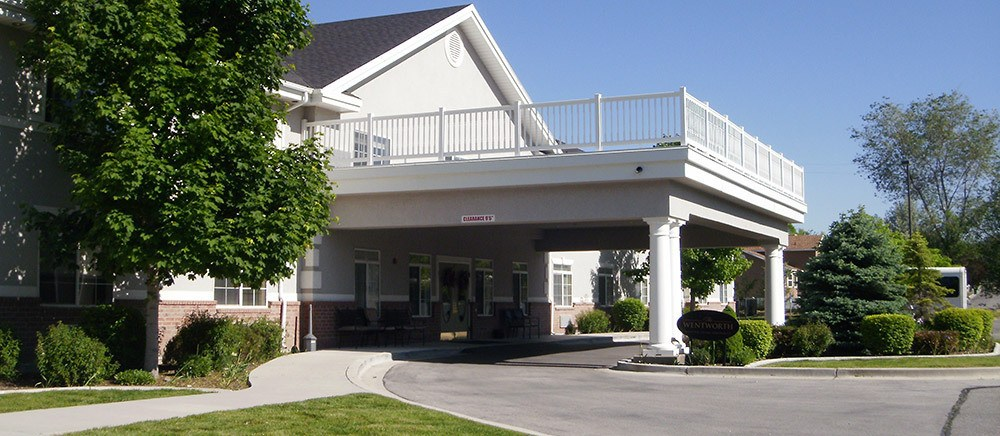 Entrance to senior living in Draper.