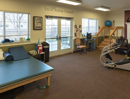 Rehabilitation room in Draper senior living.