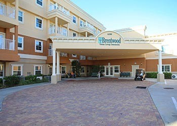 Entrance at senior living in St Petersburg, FL