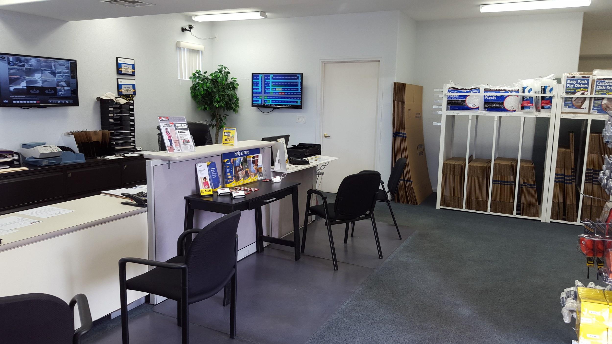 self storage in henderson Nevada office inside