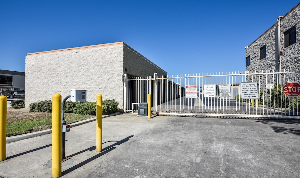 Security Features Of Our Storage Facility On Auto Center Drive In Oxnard