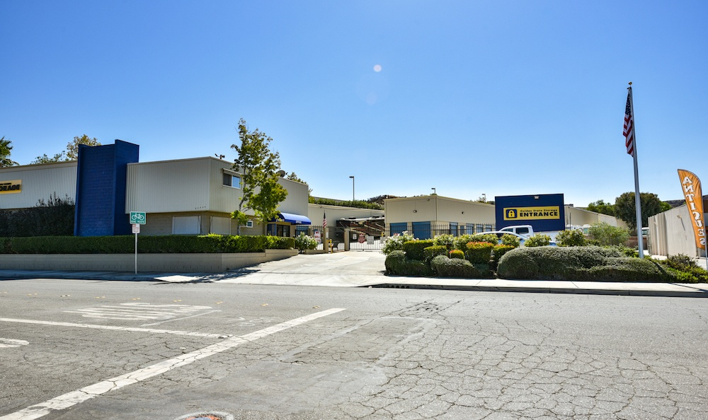 Street view of our storage facility on Golden Triangle in Santa Clarita