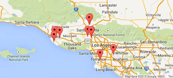 Golden State Storage California locations map