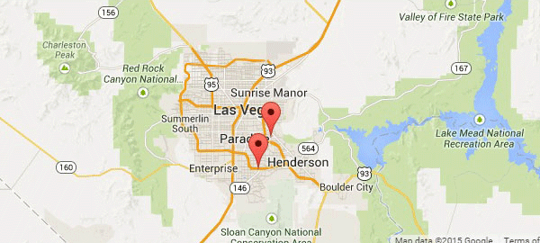 Golden State Storage Nevada locations map