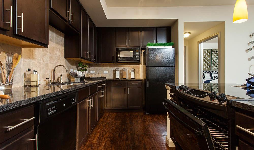 Luxury kitchen at Harvest Station Apartments in Broomfield, Colorado