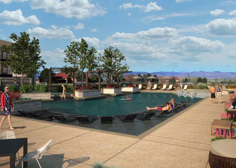 The exciting pool will be a perfect hang out during the hot Colorado summers.