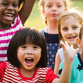 Resident children playing at 4000 Hulen Urban Apartment Homes