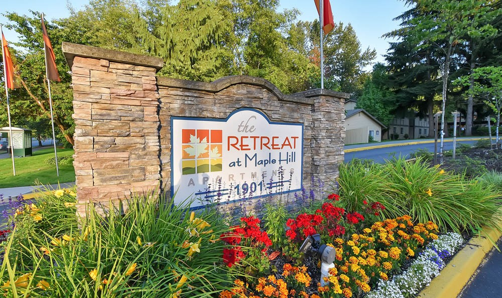 Sign at The Retreat at Maple Hill in Federal Way, WA
