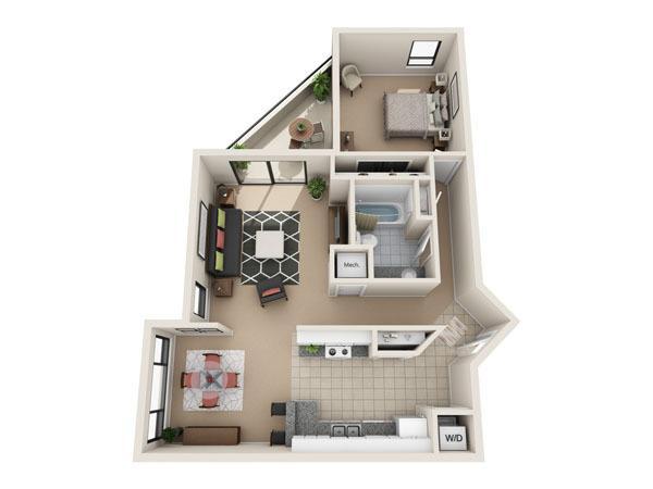 Cheap One Bedroom Apartments In San Antonio Vance Jackson 1 Bed 1 Bath 590month Gallery Art 3