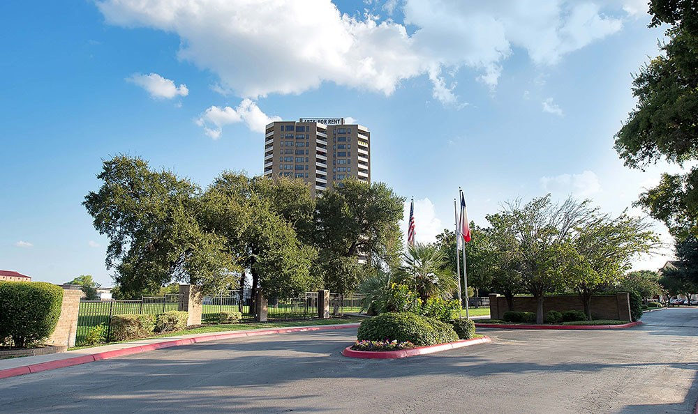 Entrance to apartments for rent in San Antonio, TX