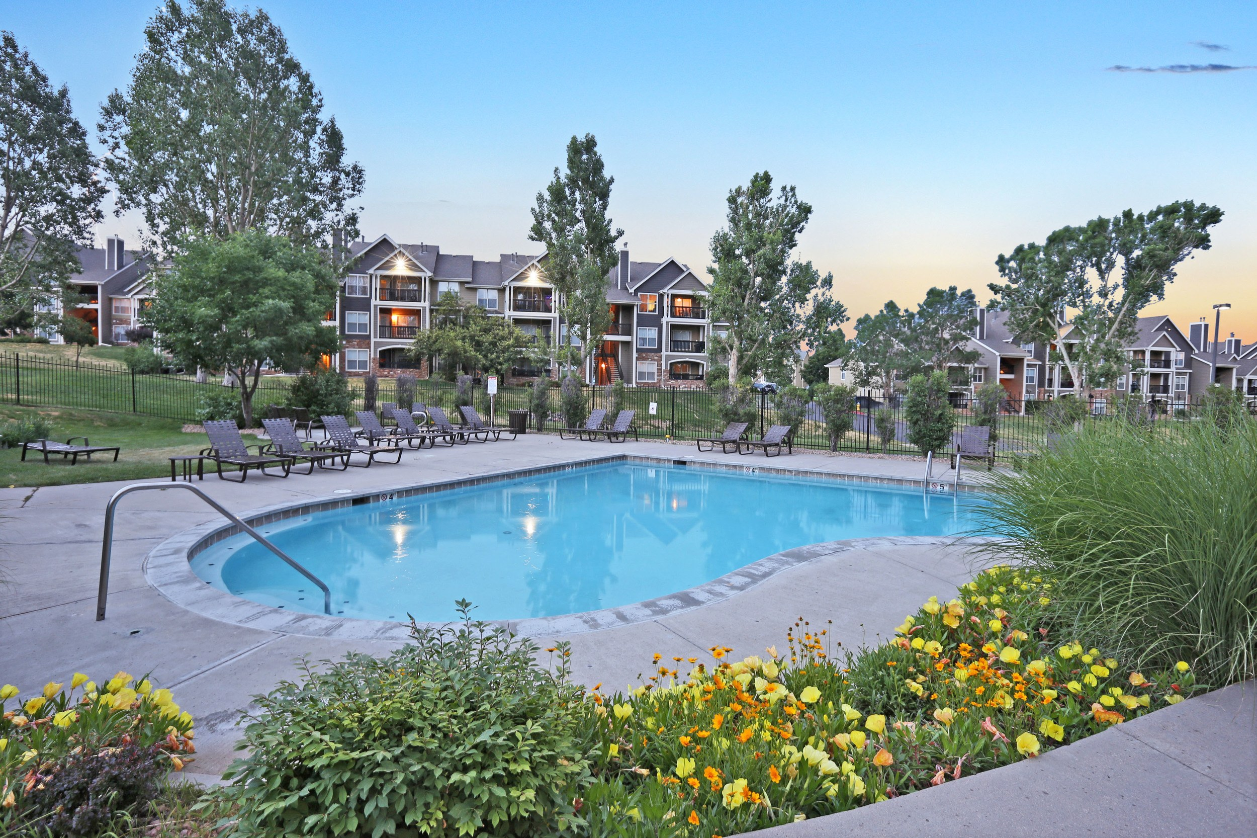 Colorado apartments Remodeled Swimming Pool