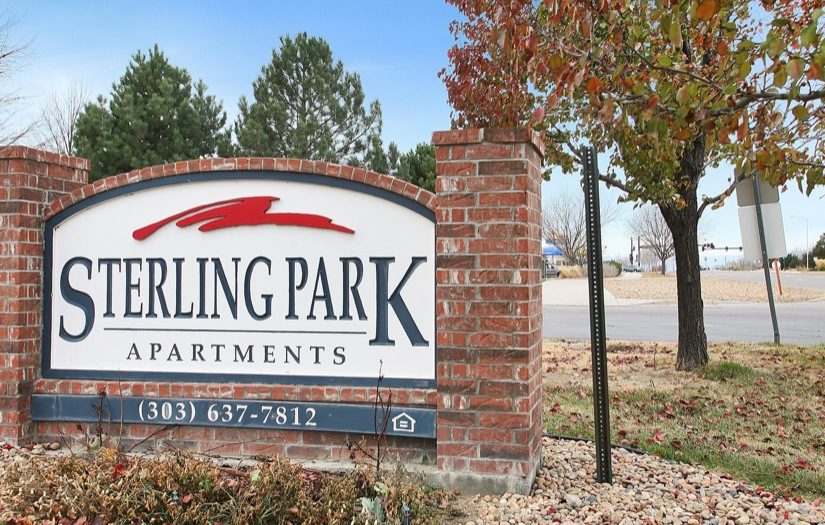 Driving up to Sterling Park Apartments