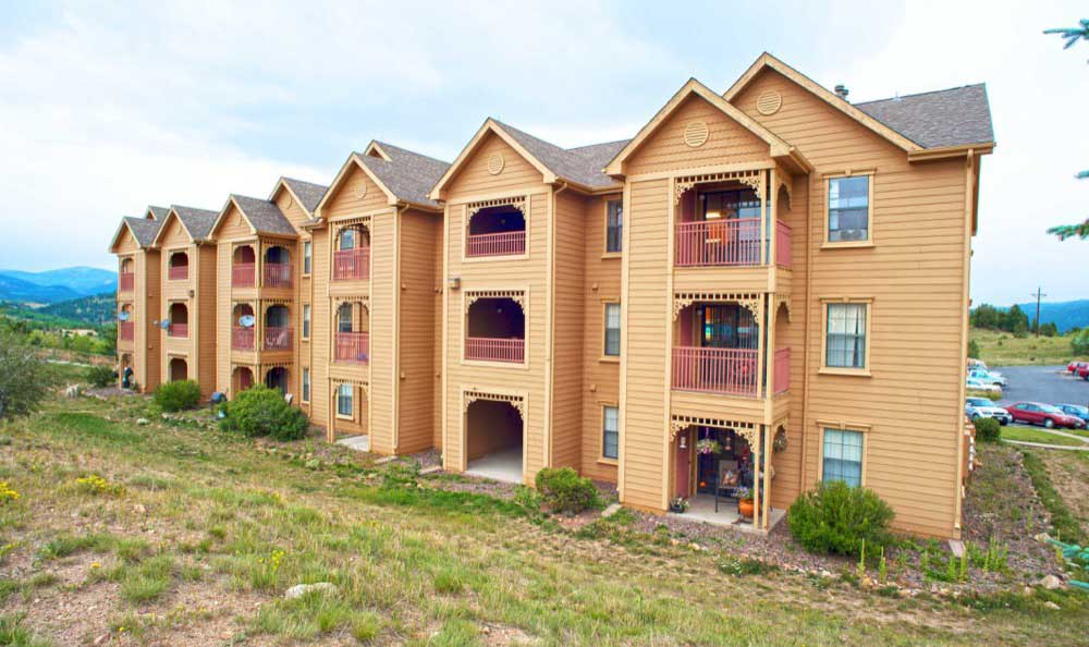 Building Exterior at Gold Mountain Village Apartments in Central City, CO