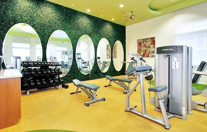 Modern Gym at Mission Rock Residential