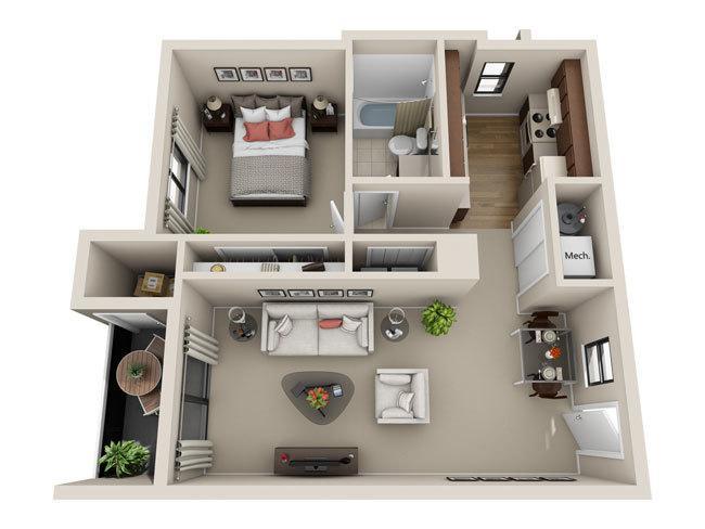 Choose Floor Plan. One Bedroom. View. 1 Bedroom