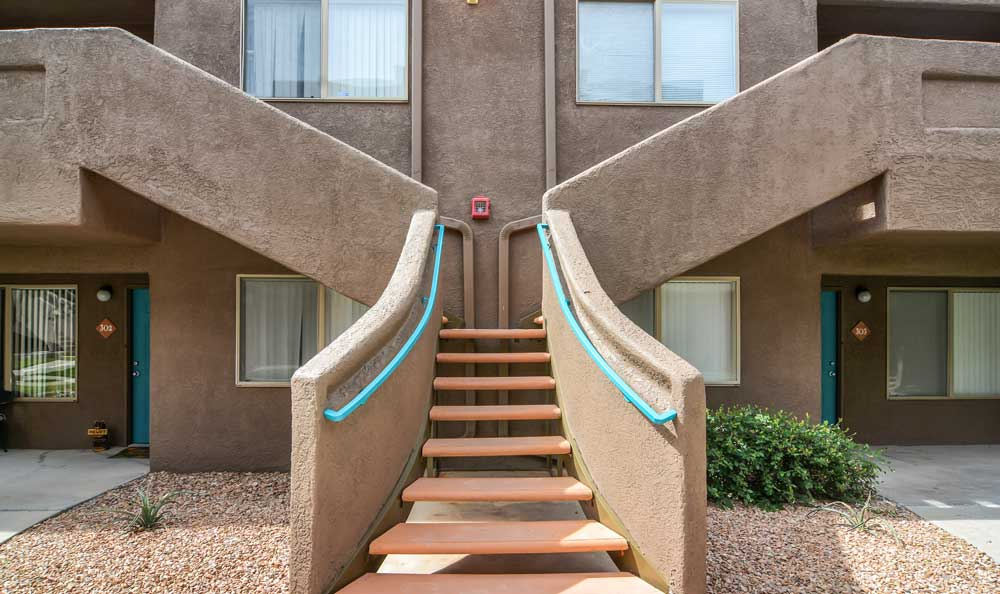 Building Exterior at Las Kivas Apartments in Albuquerque, NM